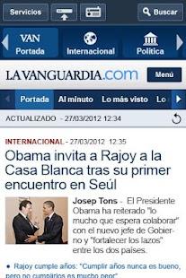 La Vanguardia - screenshot thumbnail