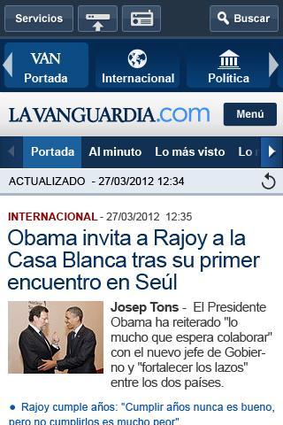 La Vanguardia - screenshot