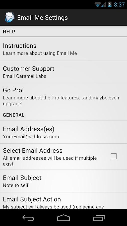 Email Me Free - screenshot