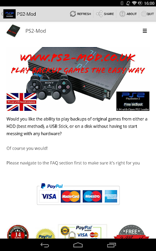 PS2-Mod Emulator Website
