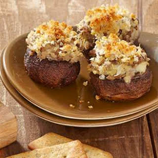 Artichoke & Parmesan Stuffed Mushrooms.