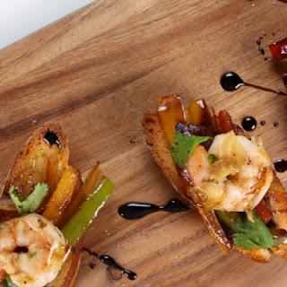 Laila Ali's Pepper and Shrimp Bruschetta