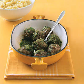 Pesto Meatballs and Couscous.