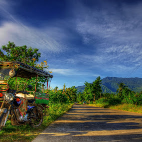 Tricycle by Jan Robin - Landscapes Mountains & Hills ( land, device, transportation )