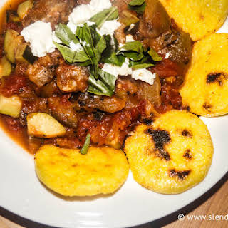 Ratatouille with Polenta Rounds.