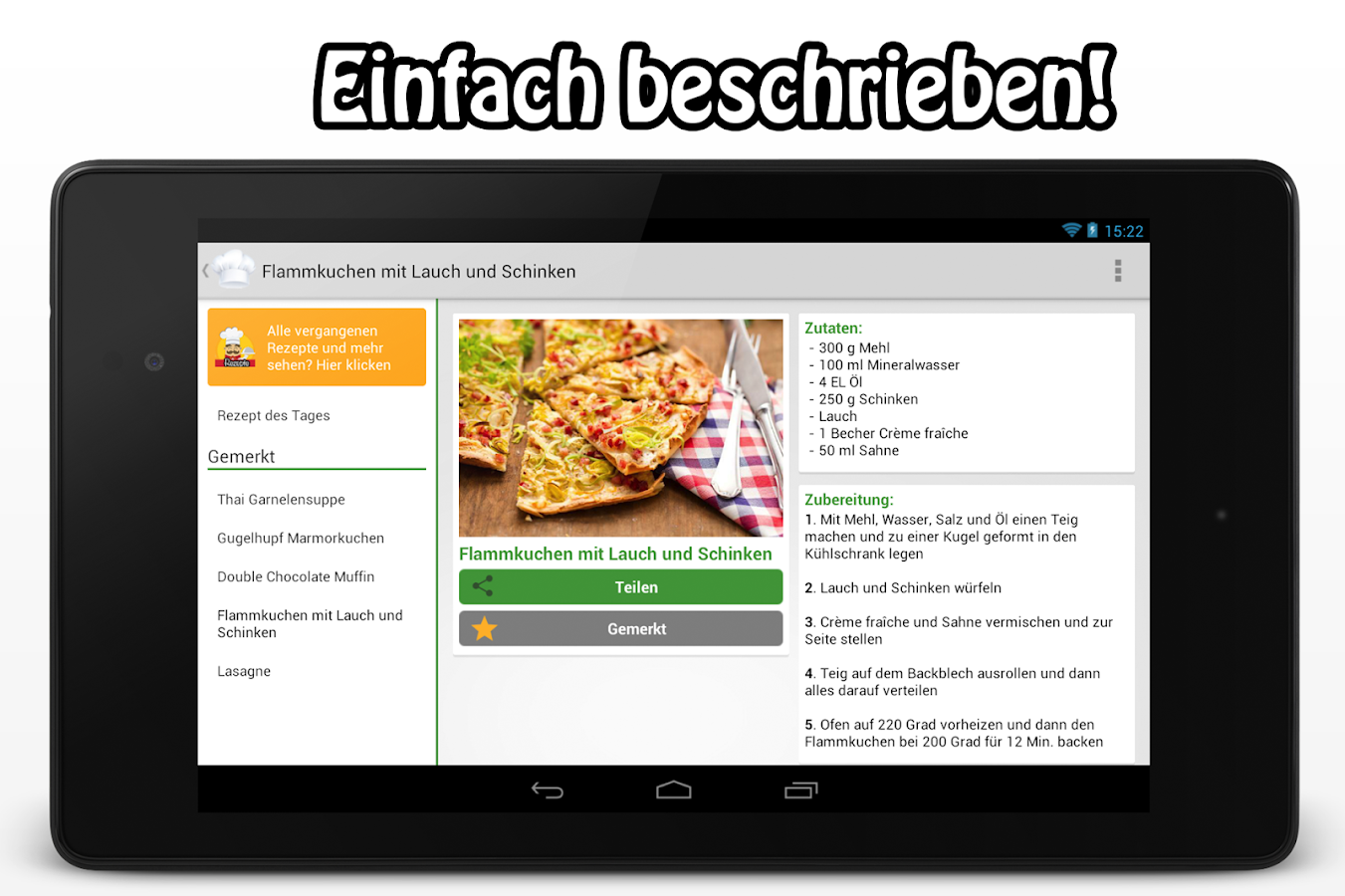 rezept des tages kochen android apps auf google play