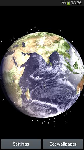 Earth Satellite Live Wallpaper