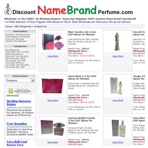 Wholesale Perfumes