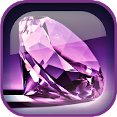 Purple Diamonds Live Wallpaper