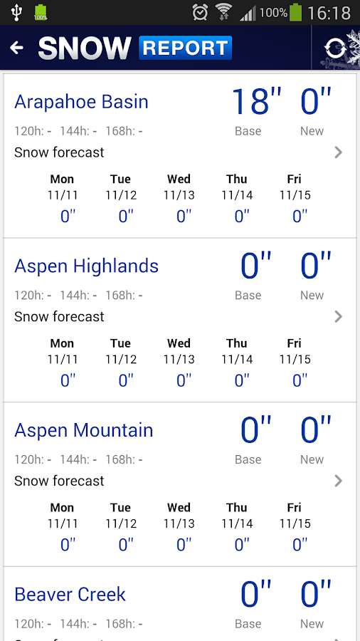 The Denver Post Snow Report - screenshot