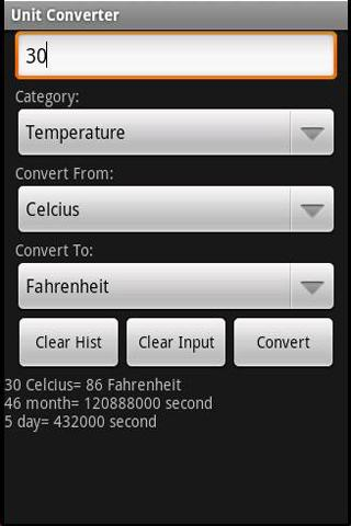 Free Unit Converter - screenshot