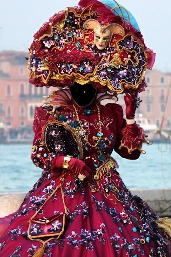 Woman Carnival Photo Camera