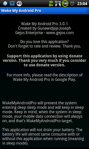 Wake My Android Pro free