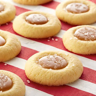 Salted Caramel Thumbprint Cookies.
