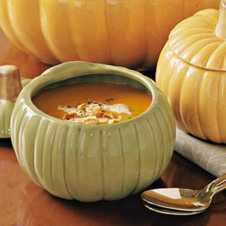 Butternut Squash Soup with Hazelnut Cream
