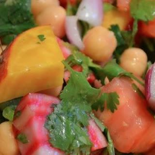 Beet, Tomato & Chickpea Salad