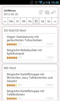 Screenshot of Mensa Köln