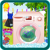 Wash Laundry Games for kids