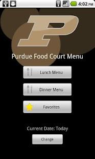 Purdue Food Court Menu- screenshot thumbnail