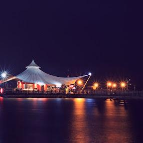 Le Bridge at night by Wawan Adi - Landscapes Waterscapes