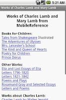 Screenshot of Works of Charles and Mary Lamb