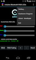 Screenshot of Arduino Bluetooth RGB LEDs