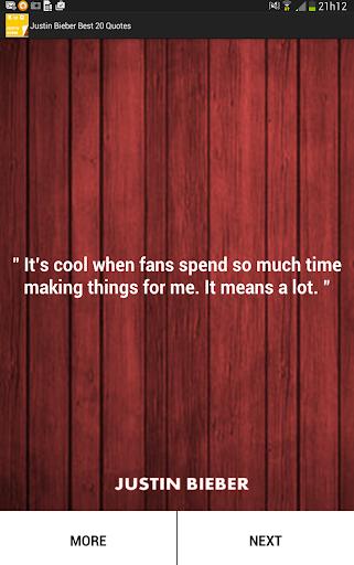 Justin Bieber Best 20 Quotes