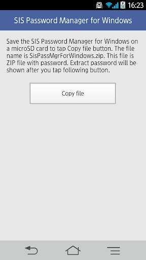 SIS Password Manager Windows