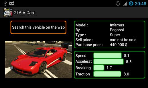 Gta 5 Cars List: GTA V/5 Car List Pro (android)