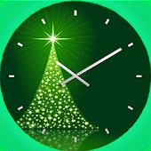 Neon Christmas Clock