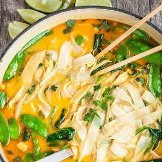 Coconut Curry Chicken Noodle Soup.