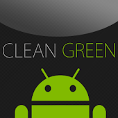 GO SMS Clean Green Theme