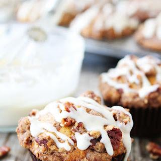 Brown Butter Pumpkin Streusel Muffins with Brown Butter Glaze.