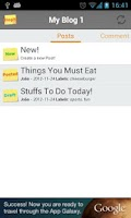 Screenshot of BlogIt!