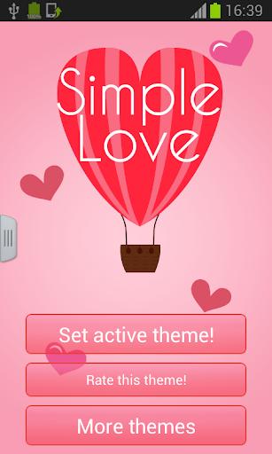 鍵盤簡單的愛情主題