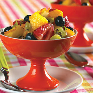 Fresh Fruit Salad with Lime-Ginger Syrup