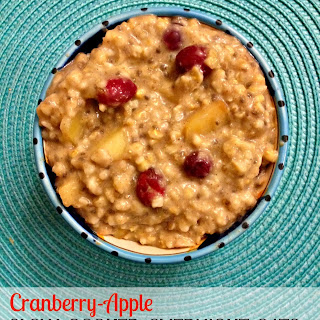 Slow Cooker Steel Cut Oats- Apple Cranberry
