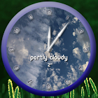 Round Weather Clock UCCW Skin icon