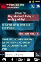 Screenshot of GO SMS PRO Theme Blue Smoke