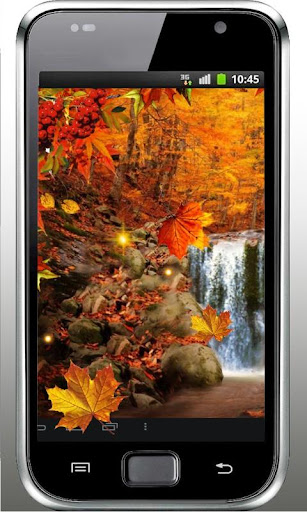 Waterfall Autumn livewallpaper