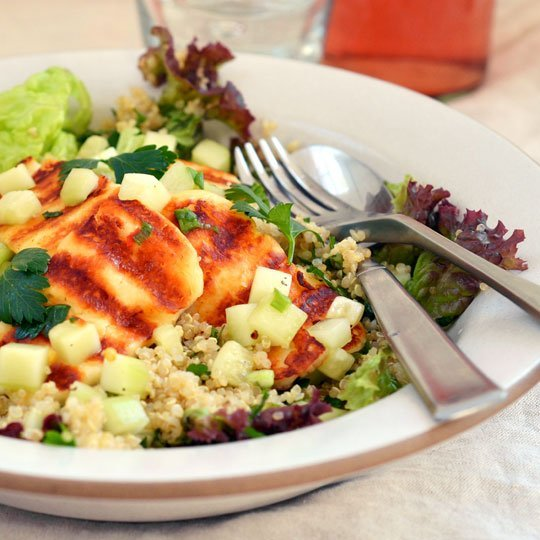 Grilled Halloumi and Quinoa Salad Recipe