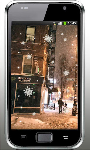 Winter New York live wallpaper