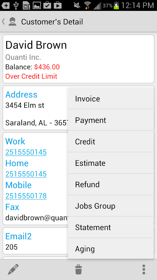 Street Invoice - screenshot