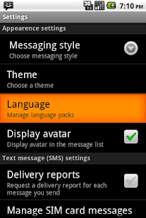 Easy SMS Spanish language- screenshot thumbnail