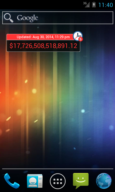 Debt Clock Lite - screenshot