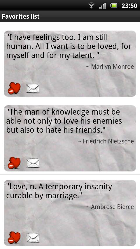Best Love Quotes Widget Donate - screenshot