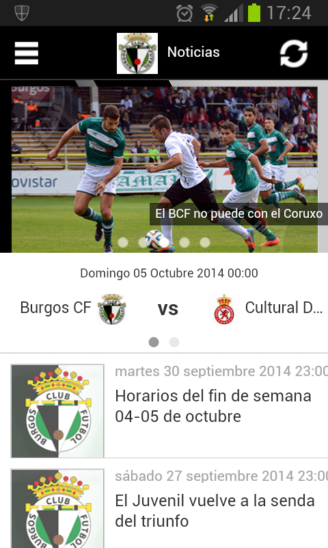 Burgos Club de Fútbol- screenshot