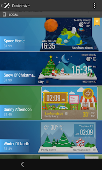G3 Style Weekly Weather Widget