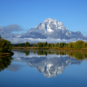 Mt Moran by Richard Duerksen - Landscapes Mountains & Hills ( snake river, oxbow bend, mt moran, grand teton np,  )