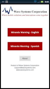 Miranda Warnings / Rights - screenshot thumbnail